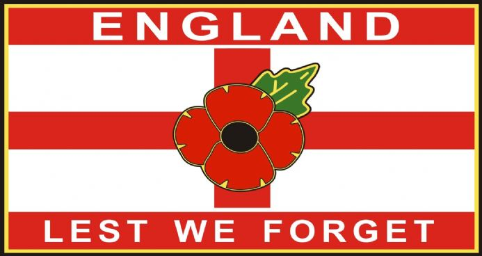Poppy Lorry Van Sticker Decal - St George England Lest We Forget - Extra Large Size
